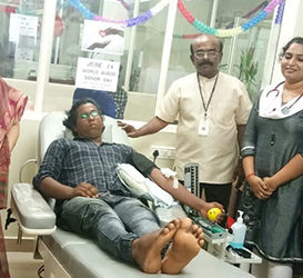 Observes Blood Donors' Day